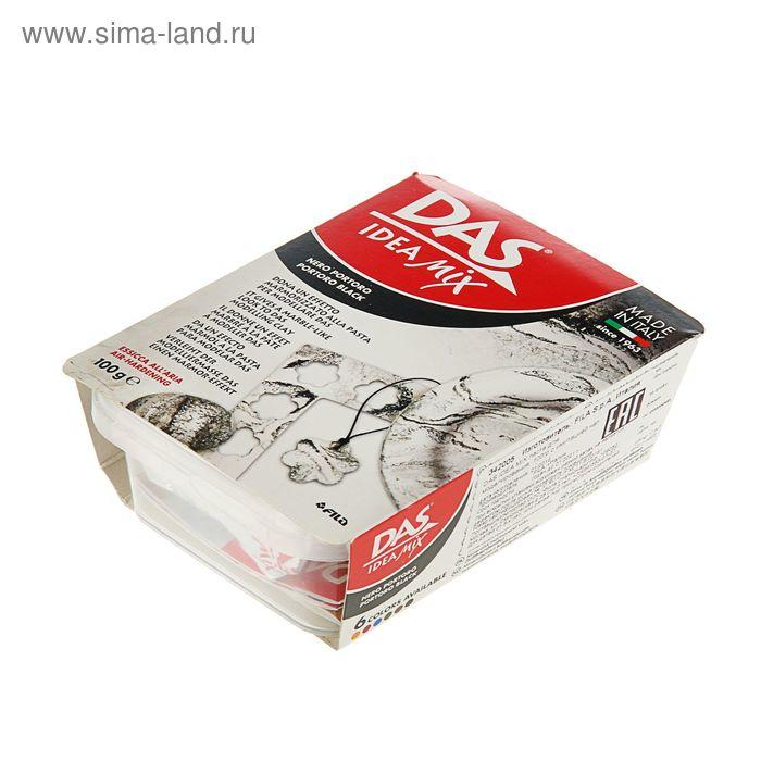 Паста для моделировая отвердевающая DAS IDEA Mix 100г иммитация камня portoro black 342005