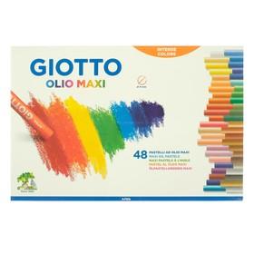 Пастель масляная детская, 48 цветов GIOTTO OLIO 70/11.0 мм в обёртке