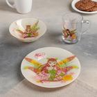 "Набор посуды ""Винкс Флора"": кружка 250 мл, тарелка 19,5 см, салатник 14 см"