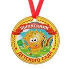 """Медаль-магнит """"Выпускник детского сада"""" Солнце"""