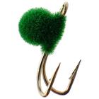 Мормышка «Мир вольфрама», коза флок зелёный, d-2,5 мм