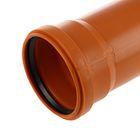 Труба канализационная VALFEX, наружная, d=110 мм, 2000 мм