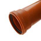 Труба канализационная VALFEX, наружная, d=110 мм, 3000 мм