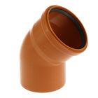 Отвод канализационный VALFEX, наружный, d=110 мм, 45°