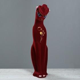 """Копилка """"Багира в шляпе"""", покрытие флок, бордовая, 43 см"""