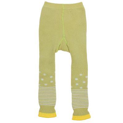 Легинсы детские плюшевые ПЛС16, цвет золотая олива, рост 74-80 см