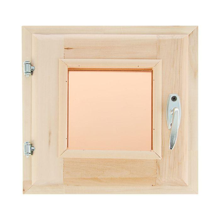 Окно 30х30 см, двойное стекло, тонированное