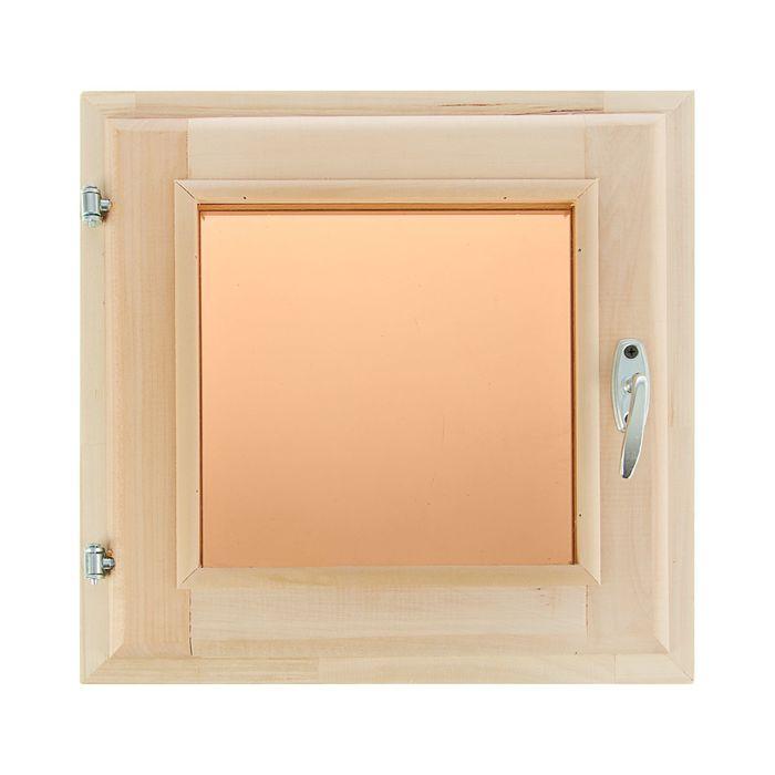 Окно 40х40см, двойное стекло,тонированное,