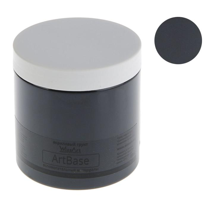 Грунт художественный акриловый черный 500 г WizzArt Base WB3.500