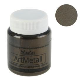 Краска акриловая Metallic 80 мл WizzArt Золото черное металлик WM14.80