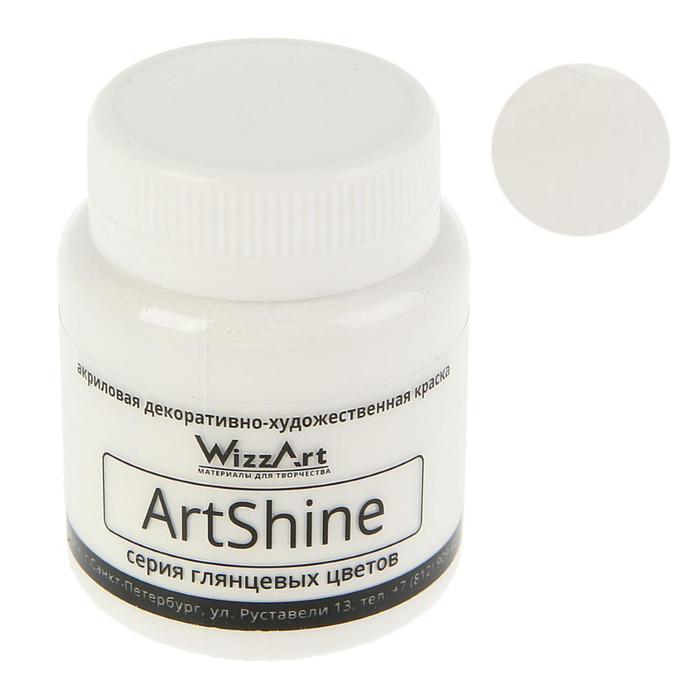 Краска акриловая Shine 80 мл WizzArt Белый глянцевый WG4.80