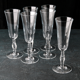 A set of champagne glasses 190 ml Retro, 6 pcs