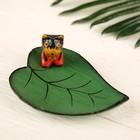 """Сувенир дерево """"Кошка на листе"""" 12  см"""