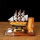 "Set table ""Ship"" with stand for pens, 12 x 13 x 6 cm"