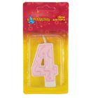 """Свеча для торта Праздник цифра """"4"""""""