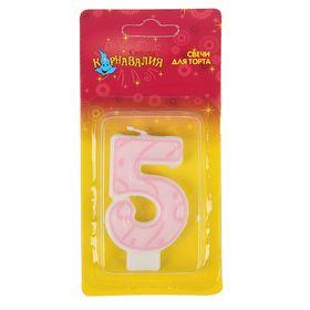 """Свеча для торта Праздник цифра """"5"""""""