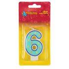 "Свеча для торта Геометрия цифра ""6"""