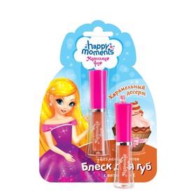 Блеск для губ Маленькая фея «Волшебная кондитерская», карамельный десерт, 7,65 мл
