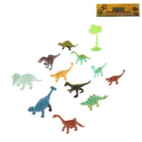 Набор животных «Динозавры», 12 предметов