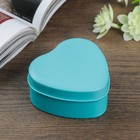 "Box metal heart ""chrome Green"" 7,3х7х3,4 cm"