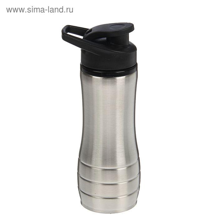 Бутылка для воды спортивная Metallica, 600 мл, хром