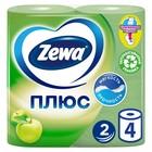 Туалетная бумага Zewa, двухслойная, аромат яблока, 4 рулона
