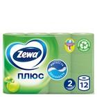 Туалетная бумага Zewa Плюс «Яблоко», 2 слоя, 12 рулонов
