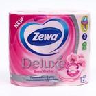 Туалетная бумага Zewa Deluxe, аромат орхидеи, 3 слоя, 4 рулона