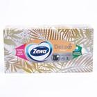 Салфетки бумажные косметические Zewa Deluxe Дизайн МИКС, 90 шт