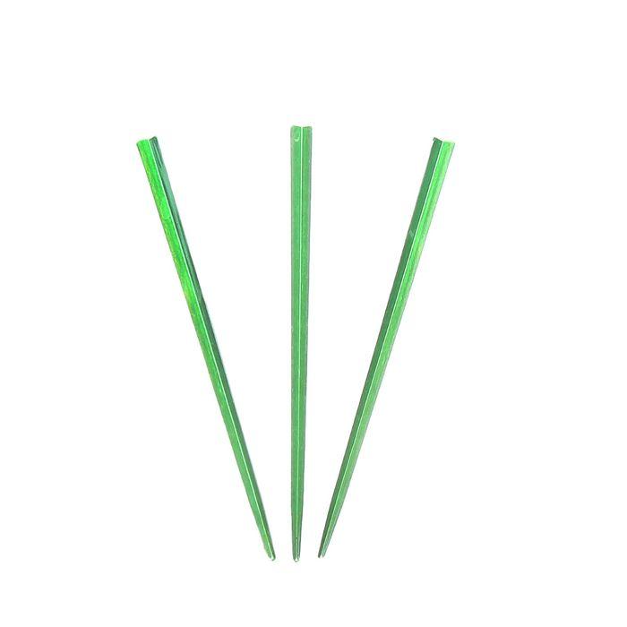 "Пика для канапе ""Палочка"" набор 50 штук, цвет зеленый"