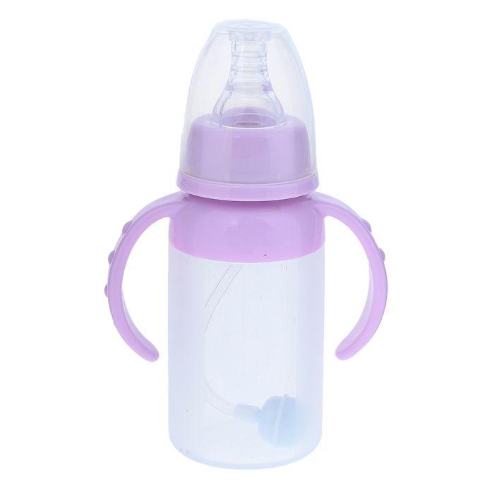 Силиконовая бутылочка для кормления, антиколиковая, 120 мл, от 0 мес., цвета МИКС