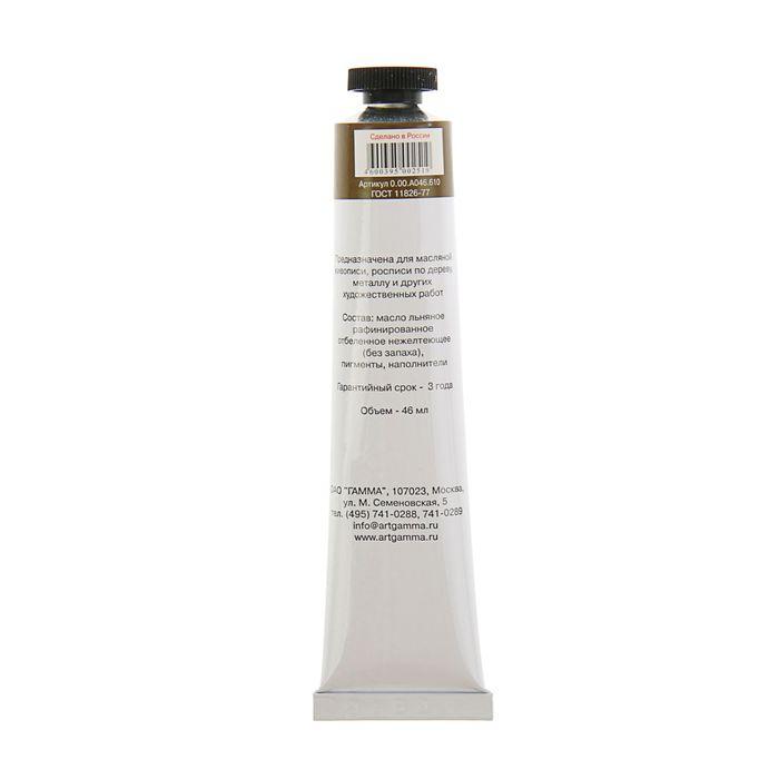 Краска масляная художественная «Студия», туба № 10, 46 мл, умбра жжёная - фото 543805711