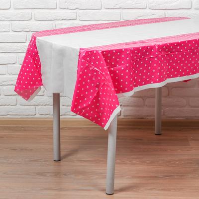 Скатерть «Звёзды», 180х108 см, розовый цвет