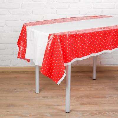 Скатерть «Звёзды», 180х108 см, красный цвет