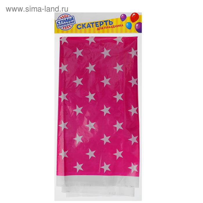"Tablecloth 180*108 cm ""Star"" crimson"