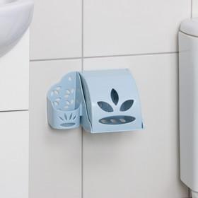 Держатель для туалетной бумаги и освежителя воздуха, цвет МИКС