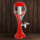 """Башня пивная 1,5 л """"Шар"""", цвет красный"""