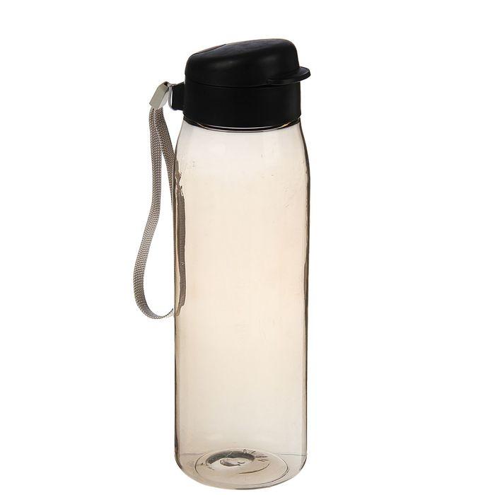 Бутылка для воды спортивная «Свежесть», 750 мл, чёрная дымка