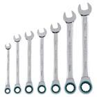 Набор ключей комбинированных GROSS, с трещоткой, 8 - 19 мм, 7шт