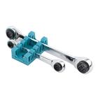 Набор ключей накидных GROSS, с трещоткой, 8 - 19 мм, 2 шт, многоразмерные, реверсивные