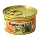Консервы Gimborn Shiny Dog с цыпленком и говядиной, 85 г