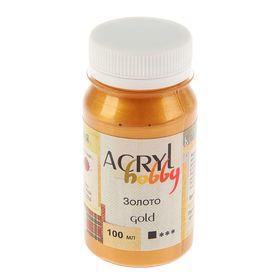 Краска акриловая Metallic 100 мл ТАИР Acryl hobby 0301122 Золото