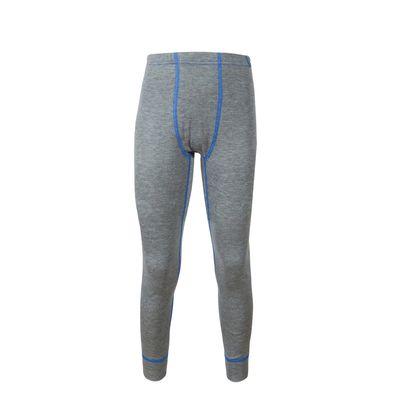 Кальсоны для мальчика, рост 104 см, цвет серый меланж/голубой 001МК