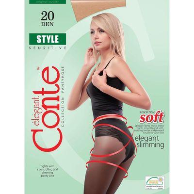Колготки женские Conte Elegant Style, 20 den, размер 2, цвет natural