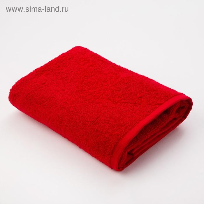 """Полотенце махровое """"Экономь и Я"""" 70*130 см бордо, 100% хлопок, 340 г/м2"""