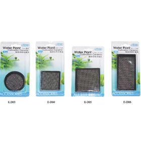 Керамическая площадка с сеткой из нержавеющей  стали для культивации растений - 5х10см