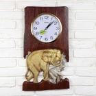 """Часы-панно """"Два слона"""""""