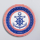 """The paper plate is """"Marine"""", anchor,18 cm"""