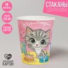 "Paper Cup ""happy Birthday"", Cat, 250 ml"