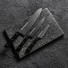 Набор кухонных ножей Shаdоw, 3 шт: лезвие 10 см, 12 см, 20 см, с покрытием Blаck Fusо